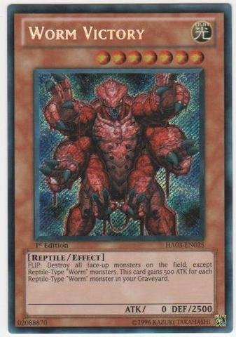 (Yu-Gi-Oh! - Worm Victory (HA03-EN025) - Hidden Arsenal 3 - Unlimited Edition - Secret Rare)
