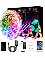 LED Strips Lights, L8star 5M/16.4ft Color Changing Rope Lights SMD 5050 RGB Lights Strips Sync with Music Apply