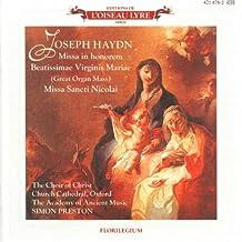 Haydn: Great Organ Mass, Missa In Honorem / Missa Sancti Nicolai, Misa Rorate Coeli Desuper by Judith Nelson (1989-04-20)