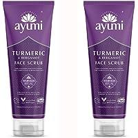 Ayumi Turmeric & Bergamot Face Scrub. Vegan, Cruelty-Free, Dermatologically-Tested, 2 x 125ml