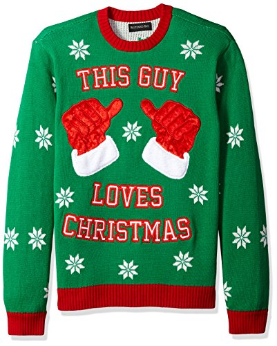 Blizzard Bay Men's Ugly Christmas Sweater Costume, Green, XX-Large (Xmas Ugly Sweaters)