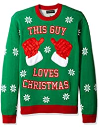 Men's This Guy Loves Crew Neck Ugly Xmas