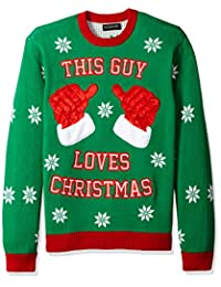 Blizzard Bay Mens This Guy Loves Xmas Crew Neck Ugly Xmas Suit Jacket