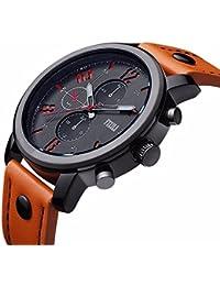 FIZILI Men's 8192 Analog Quartz Orange Watch