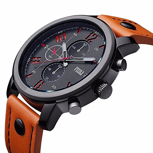 FIZILI Men's 8192 Analog Quartz Orange Watch
