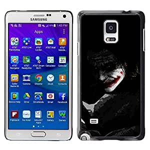 EJOY---Cubierta de la caja de protección la piel dura para el / Samsung Galaxy Note 4 / --Joker Sombra