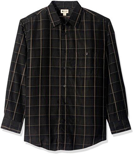 haggar-mens-long-sleeve-microfiber-woven-shirt-black-large