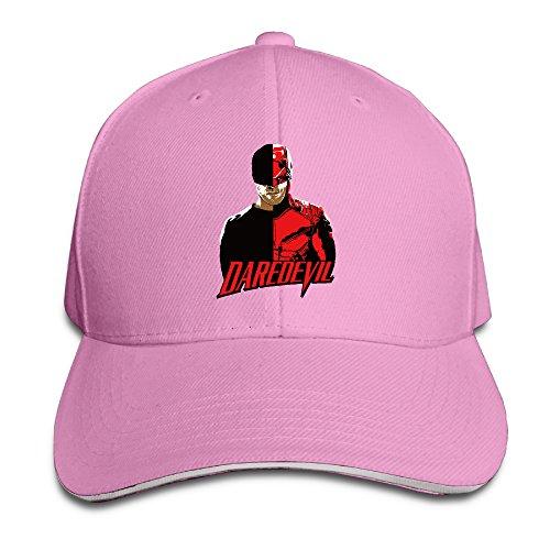 Pro-Style Matt Murdock Daredevil Sandwich Peak Hats Adults Cap Pink
