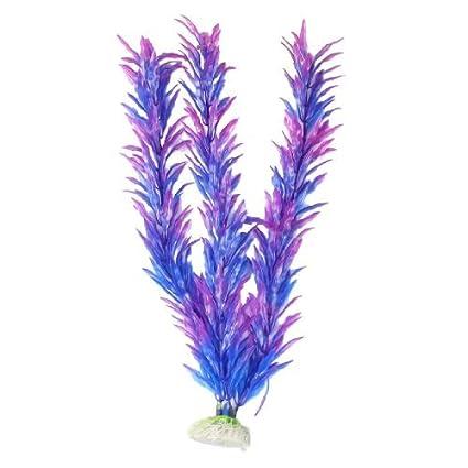 eDealMax Las plantas artificiales Base de cerámica de pescados, DE 12 pulgadas, Azul/