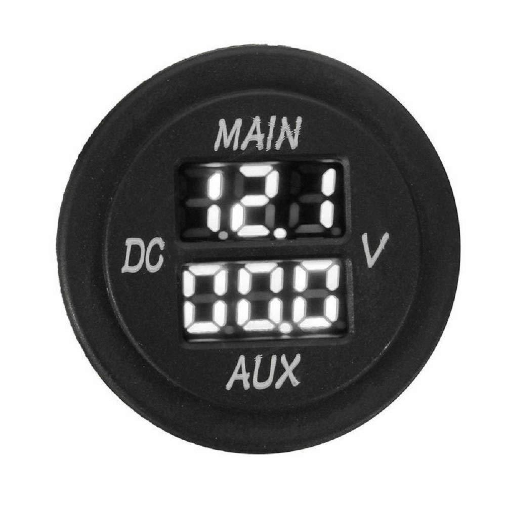 MASO Car Motorcycle DC 12-24V Dual LED Digital Round Panel Voltmeter Ammeter Amp Volt Meter Guage Orange