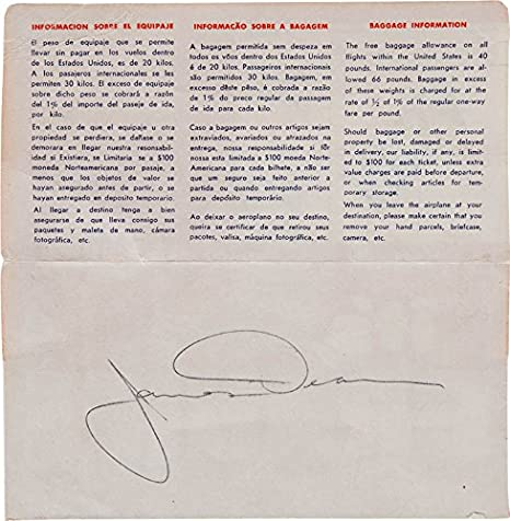 James Dean - Envelope Signed at Amazons Entertainment Collectibles Store