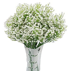 LNHOMY 10 PCS Baby Breath Artificial Flowers Fake Real Touch Gypsophila Plants for Wedding Party Home DIY Garden Decoration