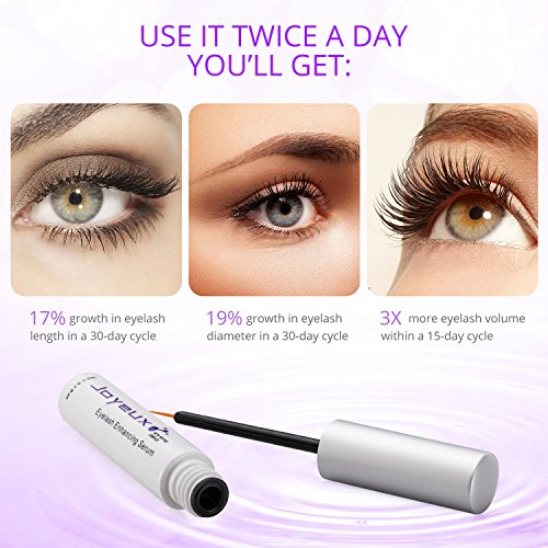 550c8e8663c Joyeux Clinically Proven Eyelash Enhancing Serum - Lengthen, Volumize and  Fortify Your Natural Eyelashes with 100% Safe and No Irritation Formula  (3ml)