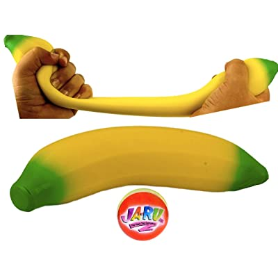 JA-RU Stretchy Banana Sensory Toy (1 Pack) Stress Relief Toys | Fidget Toys for Kids and Adults. Autism Toys: Toys & Games