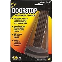 Tope de puerta de pie gigante Master Caster 00964, cuña de goma antideslizante, 3-1 /2w x 6-3 /4d x 2h, marrón