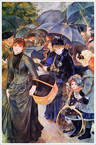 American Gift Services - Artist Pierre Auguste Renoir Poster Print of Painting The Umbrellas - 24x36