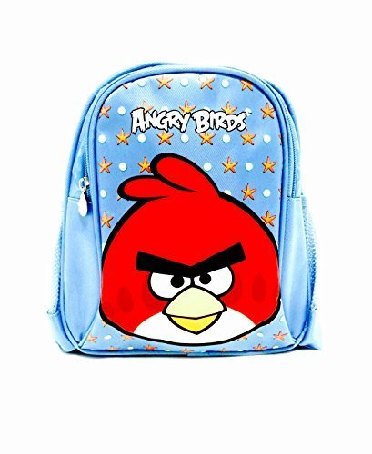 Angry Birds Light Blue Comfort Shoulder Strips Backpack - Small