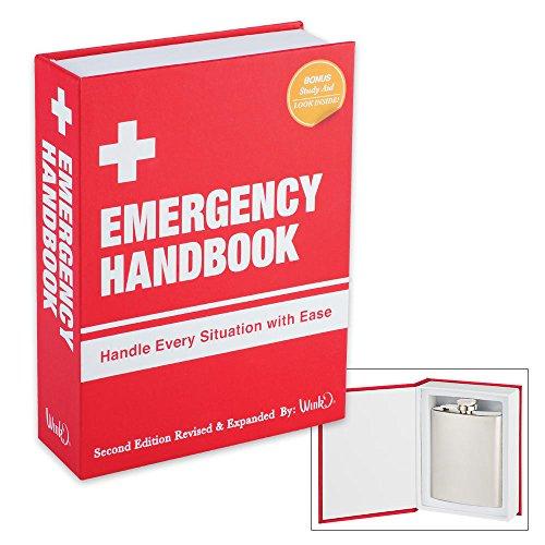 EMERGENCY HANDBOOK WITH STAINLESS STEEL FLASK INSIDE BY WINK & WILD EYE DESIGNS