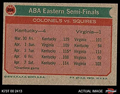 1973 Topps # 204 ABA East Semi-Finals Kentucky/Virginia Colonels/Squires (Basketball Card) Dean's Cards 7 - NM Colonels/Squires