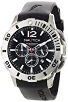 Nautica Men's N16564G BFD 101 Black Resin and Black Dial Watch by Nautica