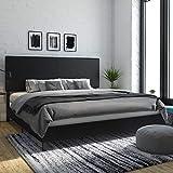 DHP 4156049 Janford Upholstered Bed, King, Black Faux Leather