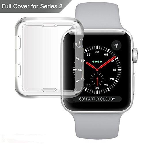 Apple Watch series 2 Case, Misxi iphone Watch 2 tpu screen protector all-around 0.3mm ultra-thin cover for new i Watch 2 (38mm)
