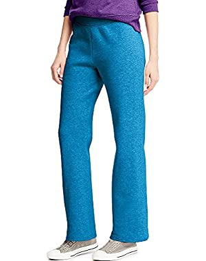 Hanes ComfortSoft Women's Petite Open Bottom Leg Sweatpant_Deep Dive HTR_L