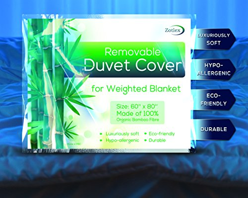 Removable Weighted Blanket Duvet Cover 60x80 inches - Bamboo Fabric