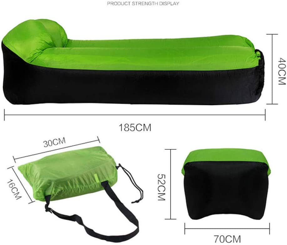 Bean Bag Fast Inflatable Lounger Sofa Bed Camping Furniture Lazy Sleeping Bag And Air Beach Chair Seat Cushion In Outdoor-Pink_Sofa Green Sofa