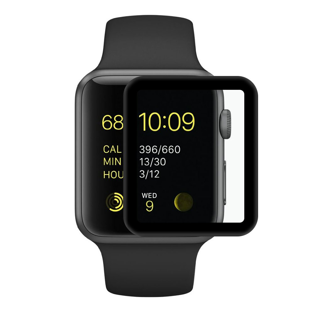 black border Apple watch tempered glass