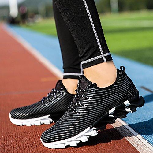 Nr. 66 Town Heren Womens Lichtgewicht Casual Loopschoenen Modeliefhebber Sneaker # 4 Zwart
