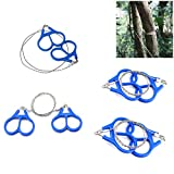 N/Y 4Pcs Survival Wire Saw, Stainless Steel Pocket