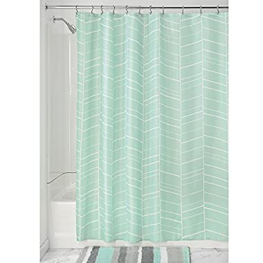 InterDesign Kylie Soft Fabric Shower Curtain, 72  x 72 , Mint