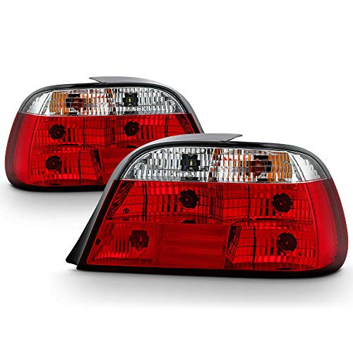 VIPMOTOZ Altezza Euro Style Tail Light Lamp For 1995-2001 BMW E38 740i 740iL 750iL - Rosso Red Lens, Driver & Passenger Side