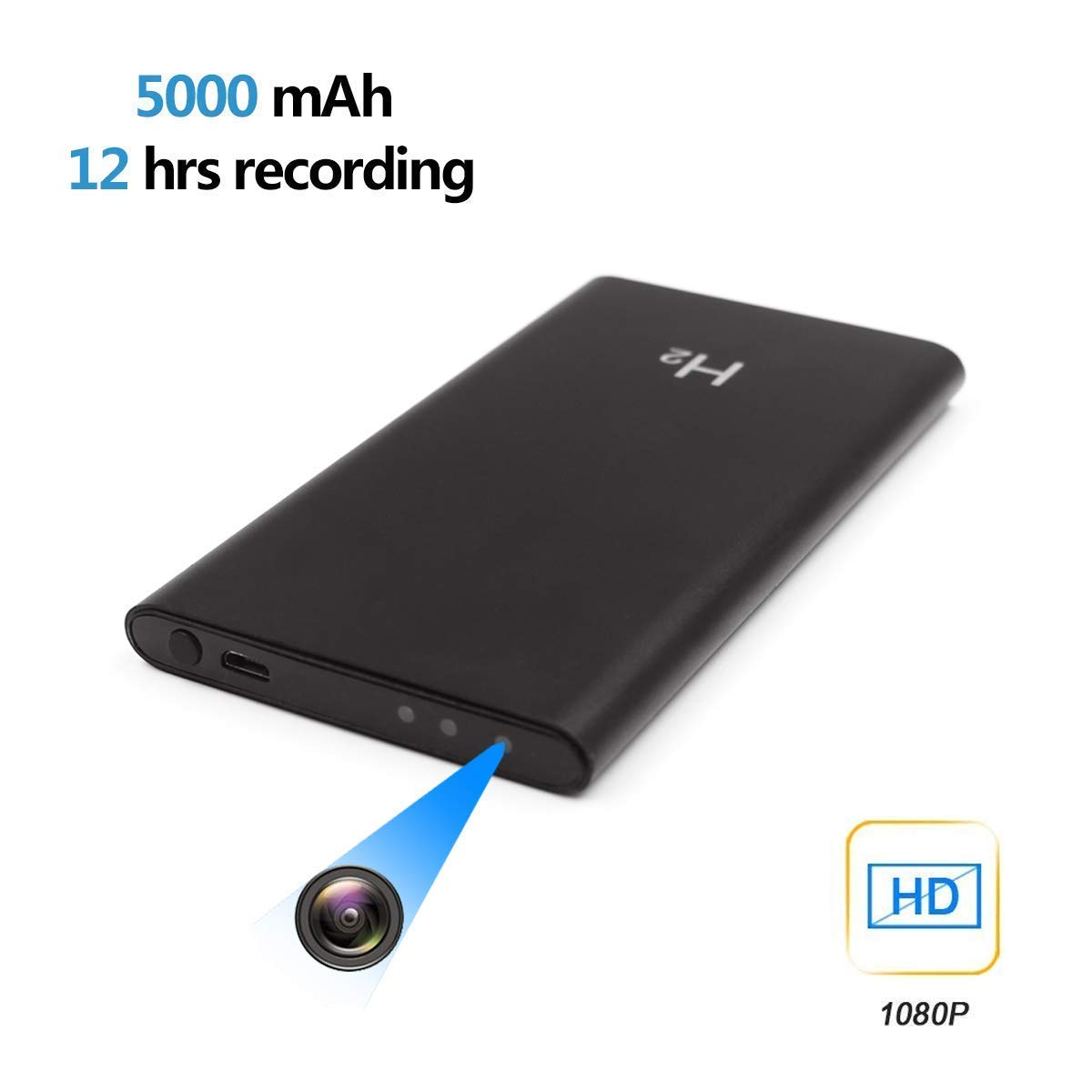 Hidden Spy Camera Power Bank 5000 Mah Mini Audio DVR Video Recorder