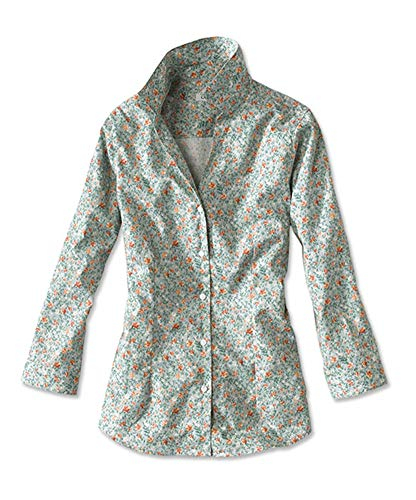 Orvis Women's Wrinkle-Free Three-Quarter-Sleeved Patterned Shirt, Floral Print, 10
