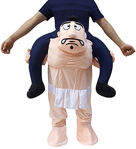 Creative Apparel Sumo Funny Piggyback, Ride-on Shoulder, Carry Me Costume for Adults, One Size