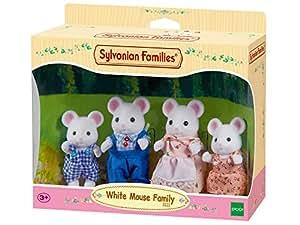 Sylvanian 3111 - Familia de ratoncitos de juguete, color blanco