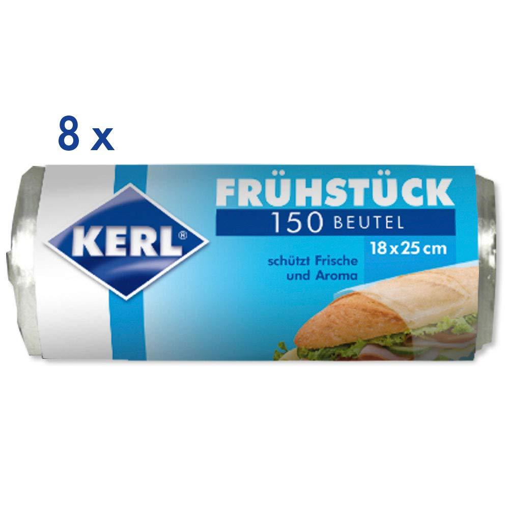 8 Rollen /à 150 St/ück KERL Fr/ühst/ücks-Beutel 18 x 25 cm