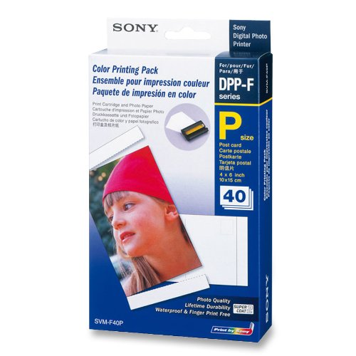 Sony Photo Printer Paper 40 Sheets (SVM-F40P/2)