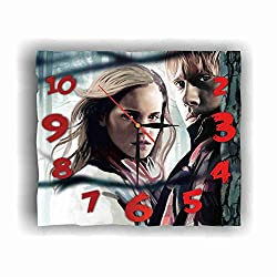 Ron Weasley - Hermione Granger 11.8'' Handmade Wall Clock - Get Unique décor for Home or Office - Best Gift Ideas for Kids, Friends, Parents and Your Soul Mates