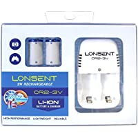 Lonsent CR2-3V Rechargeable Li-Ion Battery & Charger Set