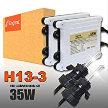 Engync® 55W AC H13 (9008) Bi-Xenon Xenon HID Conversion Kit with Premium Ballasts and 3 Year Warranty | Hi/Low Bright White with a hint of yellow Color (4300K)