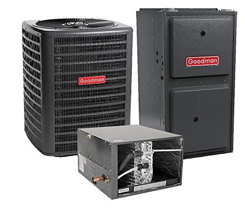 Heat Pump Heat Exchanger - Goodman 2.5 Ton 14 SEER Heat Pump GSZ140301, Coil CHPF3743C6, 60,000 BTU 92% AFUE Horizontal Gas Furnace GMSS920603BN
