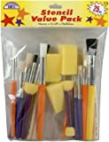 Loew Cornell 73 25-Piece Brush Set, Stencil Pack
