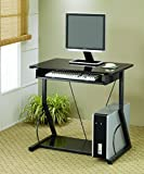 Coaster Transitional Black Computer Desk with Keyboard Tray