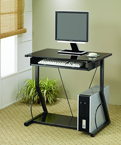 Coaster Home Furnishings Transitional Computer Desk, Black - Transitional Computer