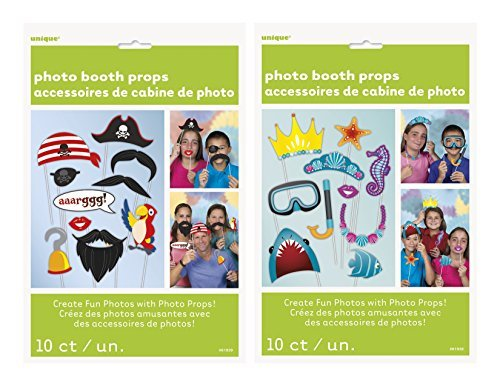 Pirate and Under The Sea Photo Booth Props, 20 PC Bundle Set]()