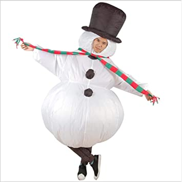 El Vestido hinchable de Santa Claus de forma del Muñeco de nieve ...