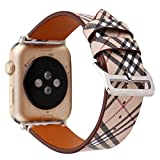 MeShow TCSHOW 38mm 40mm Tartan Plaid Style Replacement...